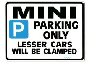 Mini Large Metal Sign for 1000 cooper s one  1275 gt
